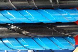 整体式螺旋钻杆刻槽钻杆的特点