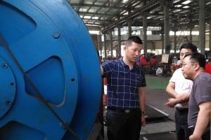 中国石油大学廖华林教授一行来钱江机械考察交流